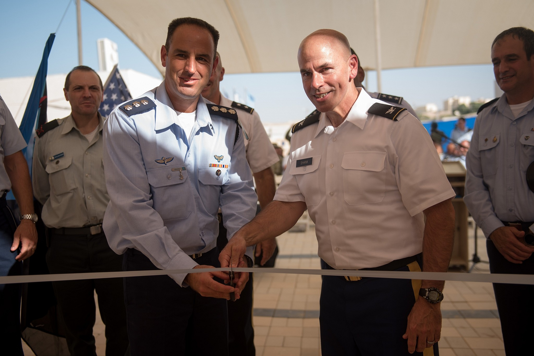 Israel opened the first United States military base