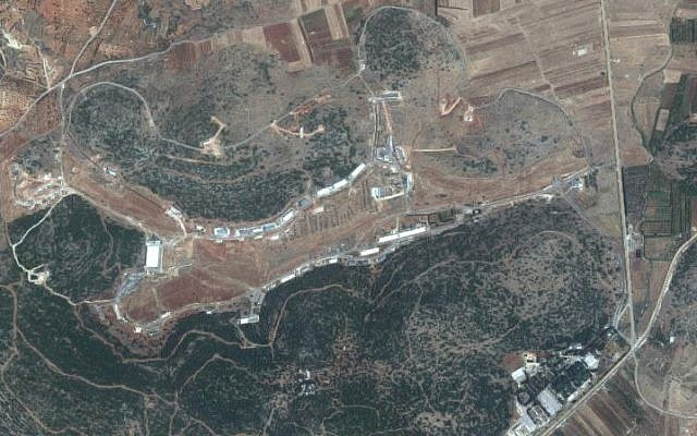 Screen capture from a satellite of an area near Masyaf, Hama province Syria where the Syrian Scientific Studies and Research Center reportedly maintains a chemical weapons facility. (Google maps)
