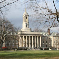 An image of Old Main, the main administrative building of Penn State University, located at University Park, seen in May 2014. (Wikimedia commons)