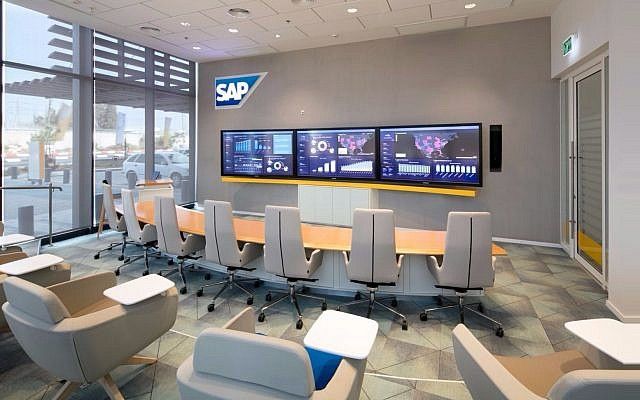 Interior of SAP's new building in Ra'anana, Israel (Courtesy: Uzi Porat)