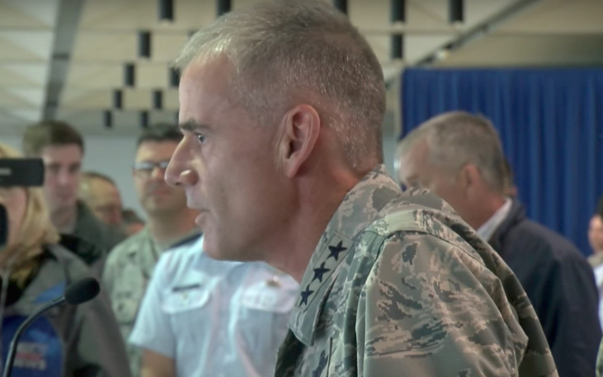 Air Force superintendent slams racist slurs found in dorm halls