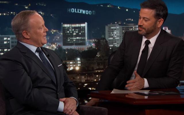 Former White House press secretary Sean Spicer appears on 'Jimmy Kimmel Live' on September 13, 2017. (Screen capture: YouTube)