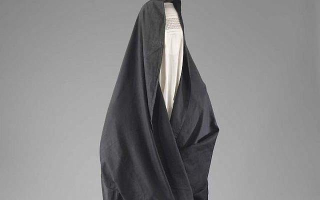 A chador worn by Jewish women in Herat, Afghanistan. (Courtesy of the Israel Museum/Mauro Magliani)