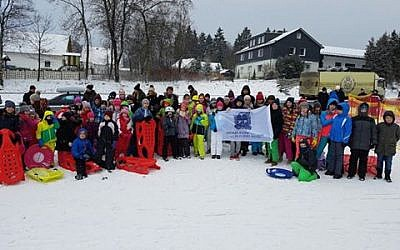 Undated photo of Bnei Akiva in Germany's winter camp (Bnei Akiva in Germany)