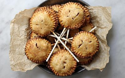 Apple and honey pie pops. (Sherri Silver/via JTA)