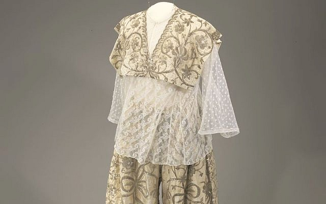 A bridal outfit worn by Tunisian Jews in the early 20th century. (Courtesy of the Israel Museum/Mauro Magliani)