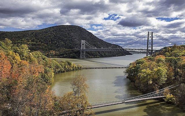View of the Bear Mountain Bridge over Popolopen Creek feeding into the Hudson River. (John Greim/LightRocket via Getty Images)