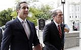 Michael Cohen, President Donald Trump's personal attorney, arrives on Capitol Hill in Washington, September 19, 2017. (AP Photo/ Pablo Martinez Monsivais)