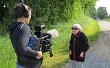 Marthe Cohn being filmed by director Nicola Hens for the upcoming documentary 'An Unusual Spy.' (Courtesy)