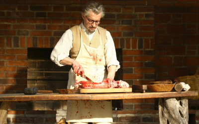 Trotsky portrayed as a butcher in the upcoming Russian television series bearing his name. (Courtesy)