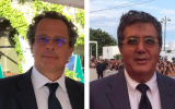Marco Cohen (left) and Benedetto Habib at the Venice Film Festival, where they premiered their upcoming movie, 'The Leisure Seeker.' (Courtesy)