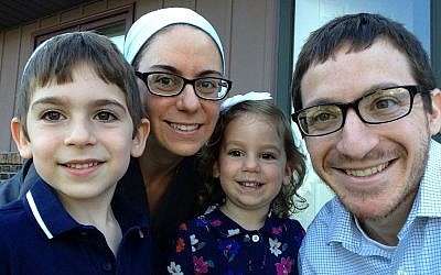 Shlomo and Michal Wadler moved to South Bend from Brooklyn six years ago. They are part of influx of Orthodox families to the Midwestern university town. (Courtesy of the Wadler family/via JTA)
