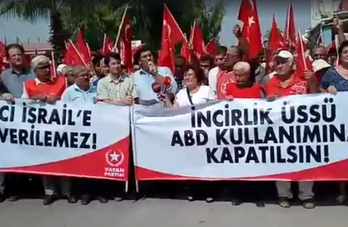 Supporters of the ultra-nationalist Turkish Homeland Party protest outside the Israeli embassy in Ankara against what they claim are attempts to establish a