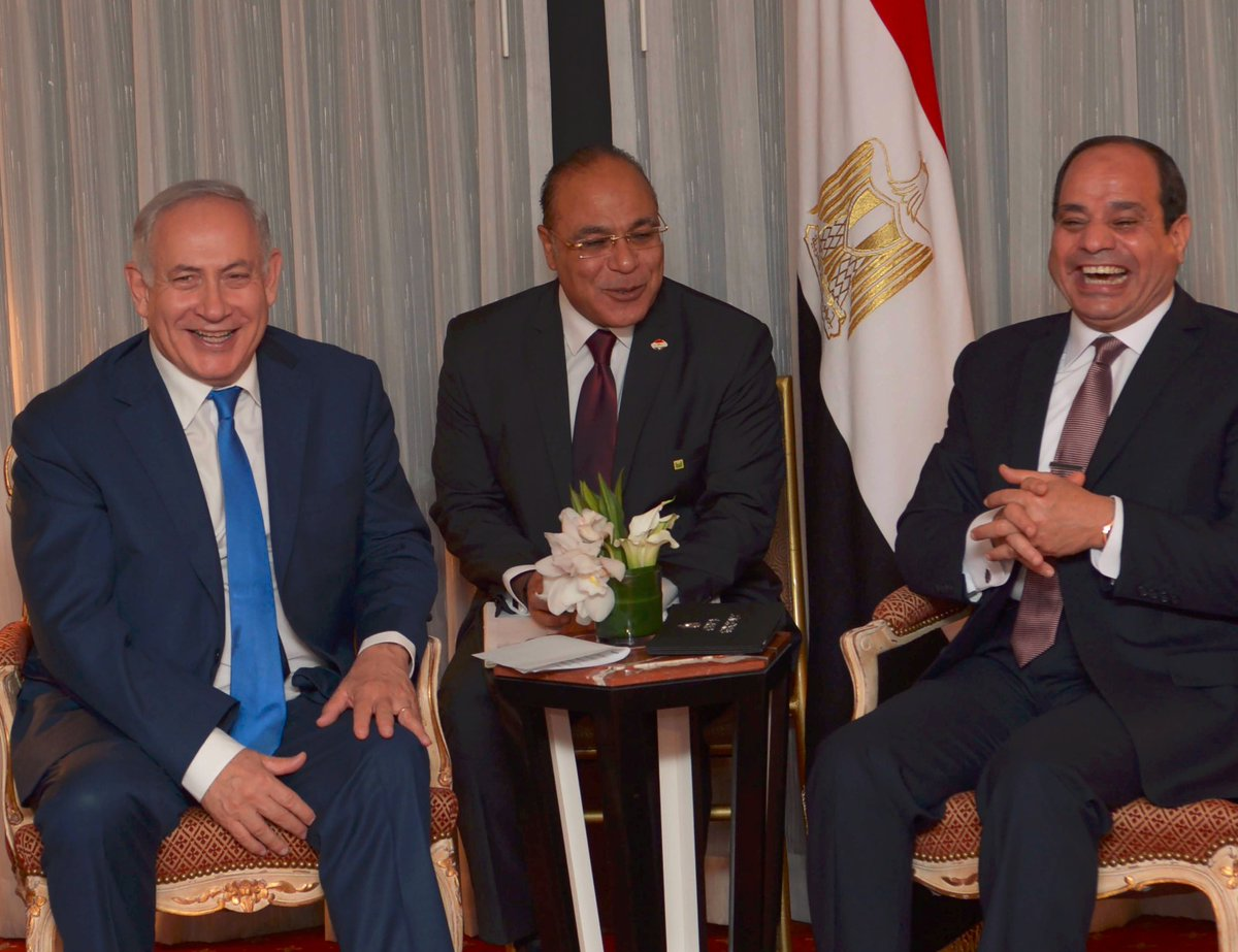 How's This For Warm? Binyamin Netanyahu Meets Egyptian President al-Sisi