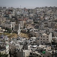 View of the Arab neighborhood of Silwan, in East Jerusalem, May 27, 2015. (Nati Shohat/Flash90)