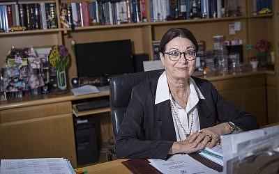Portrait of the Jerusalem Supreme Court Judge, Esther Hayut, on May 10, 2017. (Hadas Parush/Flash90)