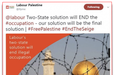 Labour Friends of Palestine's offensive tweet, since deleted (Guido Fawkes)