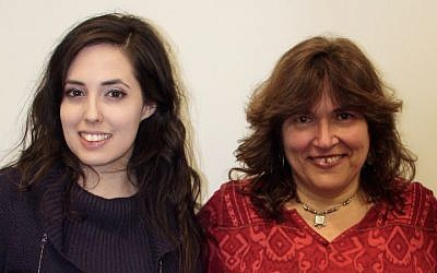 University of Maryland Professor Melissa Landa, right, with one of her students. (Courtesy of Landa)
