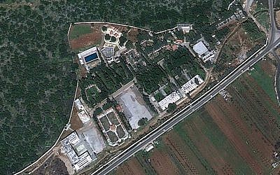 Satellite image of a CERS facility near Masyaf reportedly hit by an Israeli airstrike overnight Wednesday, September 7, 2017 (screen capture: Google Earth)