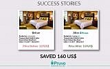 Israeli startup Pruvo seeks to make hotel booking even cheaper by tracking prices (Courtesy)