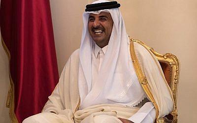 Sheikh Tamim bin Hamad Al Thani, the Emir of Qatar, Manama, Bahrain. (Carl Court - Pool/Getty Images via JTA)