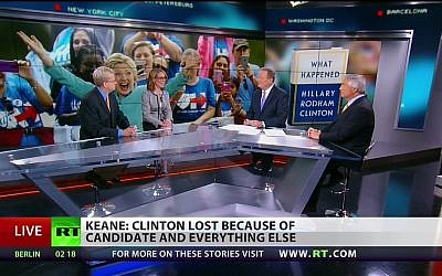 A RT broadcast on September 12, 2017. (Screen capture: RT.com)