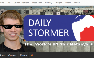 Screen capture of the neo-Nazi website Daily Stormer, showing Prime Minister Benjamin Netanyahu's son as the site banner, September 12, 2017.