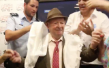 Shalom Shtanberg at his bar mitzvah in Haifa, Aug. 31, 2017. (Screenshot from Ynet/JTA)