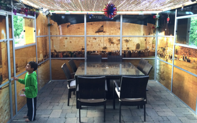 The interior view of a Panoramic Sukkah. (Courtesy of Eliyahu Alpern/via JTA)