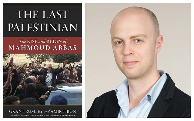 Journalist Amir Tibon and his book, 'The Last Palestinian.' (Courtesy)