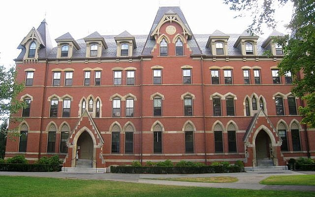West Hall at Tufts University (Wikimedia Commons via JTA)