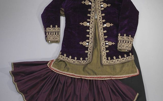 Iranian Jews wore a tutu-inspired skirt and jacket in the early 20th century. (Courtesy of the Israel Museum/Mauro Magliani)