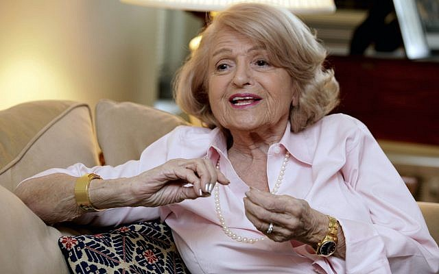 Edith Windsor speaks during an interview in her New York City apartment on December 12, 2012. (AP/Richard Drew, File)