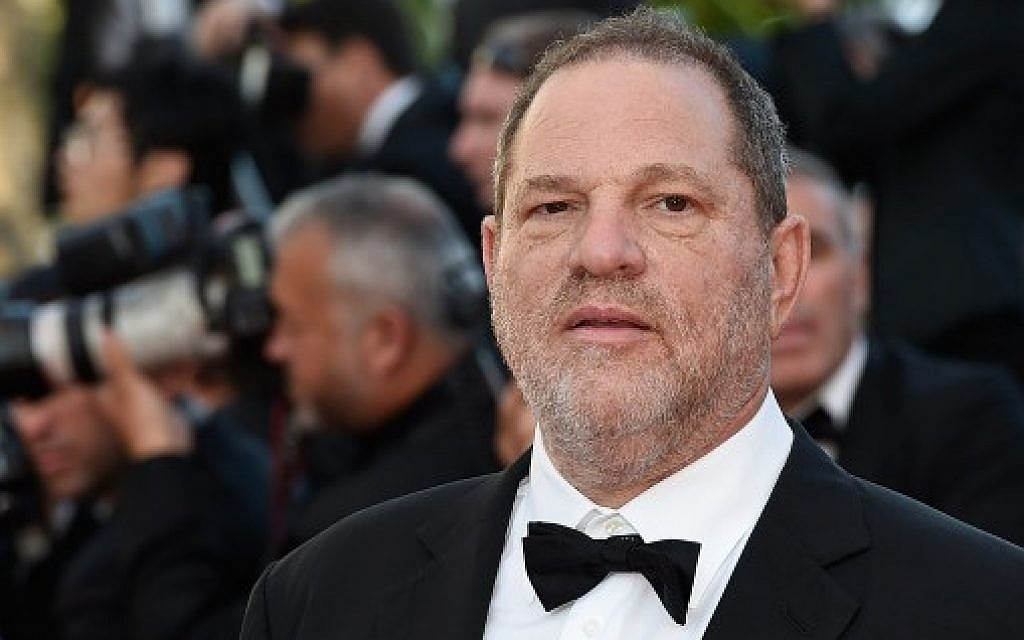 This file photo taken on May 22, 2015 shows US producer Harvey Weinstein arriving for the screening of the film 'The Little Prince' at the 68th Cannes Film Festival in Cannes. (AFP Photo/Loic Venance)