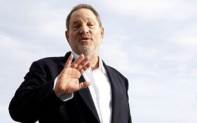 Harvey Weinstein, posing during a photocall in Cannes, southeastern France, October 5, 2015. (AFP/Valery Hache/File)