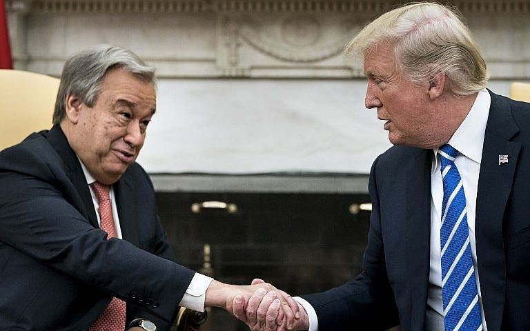 trump says un chief doing very very spectacular job the times