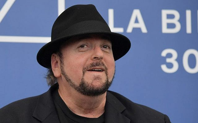 """Director James Toback attending the photocall of the movie """"The Private Life of a Modern Woman"""" presented out of competition at the 74th Venice Film Festival at Venice Lido on September 2, 2017. (AFP/Tiziana Fabi)"""