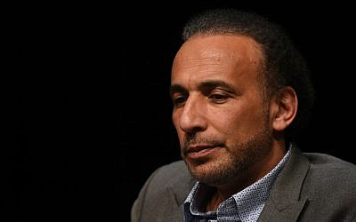 "This photo taken on March 26, 2016, shows Swiss Islamologist Tariq Ramadan posing during a conference on the theme ""Live together,"" in Bordeaux, southwestern France. (AFP PHOTO / MEHDI FEDOUACH)"