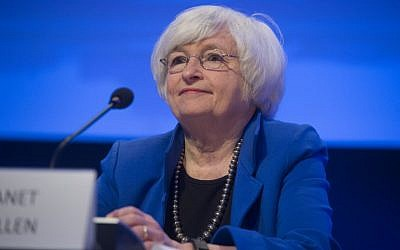 This file photo taken on October 15, 2017 shows Federal Reserve Chair Janet Yellen  during the 32nd Annual Group of 30 (G30) International Banking Seminar in Washington, DC. ( AFP PHOTO / SAUL LOEB)