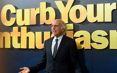 "Actor Larry David attends the ""Curb Your Enthusiasm"" season 9 premiere at SVA Theater on September 27, 2017, in New York City. (Jamie McCarthy/Getty Images/AFP)"