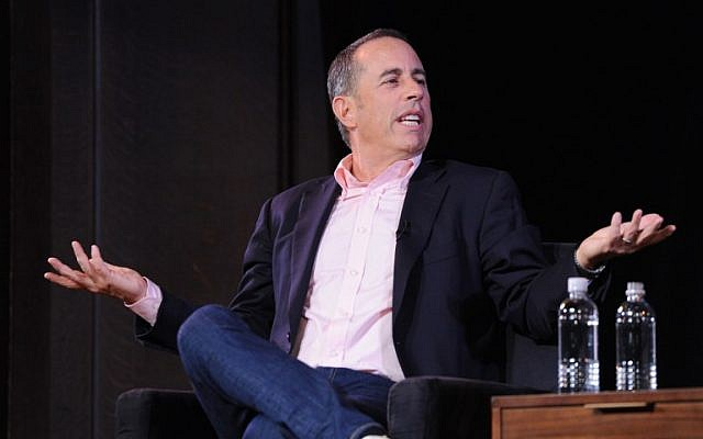 Jerry Seinfeld speaks onstage during the 2017 New Yorker Festival at New York Society for Ethical Culture in New York City on October 6, 2017. (Craig Barritt/Getty Images for The New Yorker/AFP)