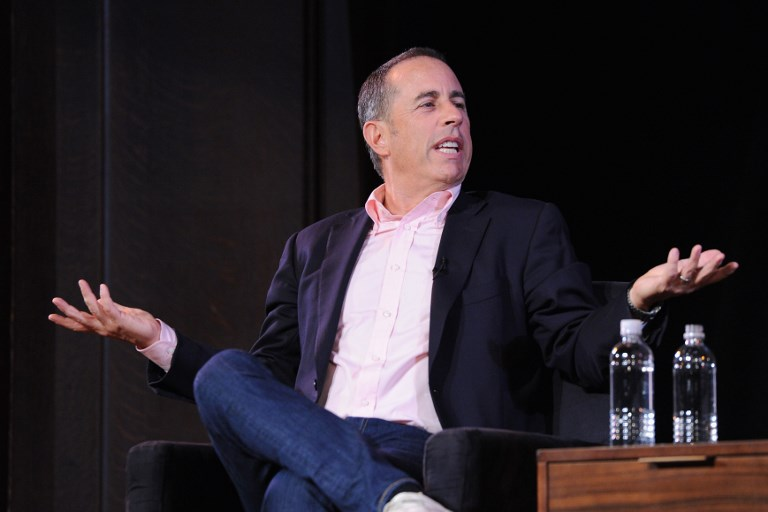 4ae6839b Jerry Seinfeld speaks onstage during the 2017 New Yorker Festival at New  York Society for Ethical