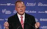 Roy Moore, GOP Senate candidate and former chief justice on the Alabama Supreme Court speaks during the annual Family Research Council's Values Voter Summit at the Omni Shorham Hotel on October 13, 2017 in Washington, DC.  (Mark Wilson/Getty Images/AFP)