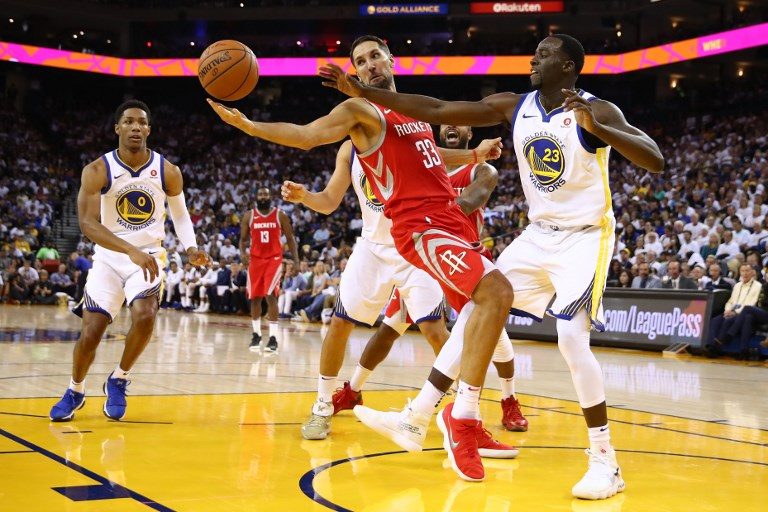 3917ea588a6 Ryan Anderson  33 of the Houston Rockets and Draymond Green  23 of the  Golden