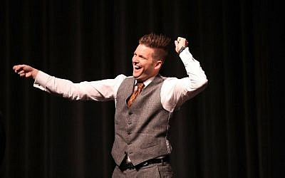 White nationalist Richard Spencer reacts to the audience as he speaks at the Curtis M. Phillips Center for the Performing Arts in Gainesville, Florida, October 19, 2017. (Joe Raedle/Getty Images/AFP)