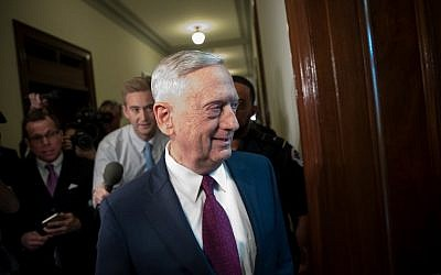 US Defense Secretary James Mattis arrives on Capitol Hill to meet with senators, October 20, 2017. (Drew Angerer/Getty Images/AFP)