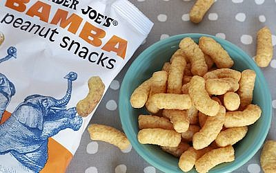 Trader Joe's is now selling the popular Israeli snack Bamba. (Trader Joe's via JTA)