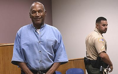 Former NFL football star OJ Simpson enters for his parole hearing at the Lovelock Correctional Center in Lovelock, Nevada,  July 20, 2017. (Jason Bean/The Reno Gazette-Journal via AP)