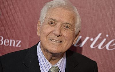 In this Jan. 4, 2014 file photo, Monty Hall arrives at the Palm Springs International Film Festival Awards Gala at the Palm Springs Convention Center in Palm Springs, California. (Photo by Jordan Strauss/Invision/AP, File)