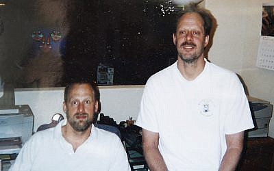 This undated photo provided by Eric Paddock shows him at left with his brother, Las Vegas gunman Stephen Paddock at right. (Courtesy of Eric Paddock via AP)